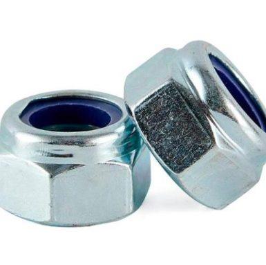 Piuliță de insertie din nailon placat cu zinc DIN985