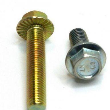 Șurub cu flanșă hexagonală DIN 6921 placat cu zinc de 8,8 grade