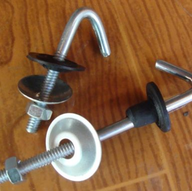 Cârligul cu șurub J cu șaibă și piuliță și set de cauciuc asamblate