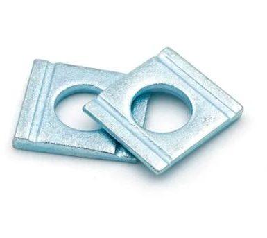 Șaibă pătrată din oțel carbon cu formă de pană